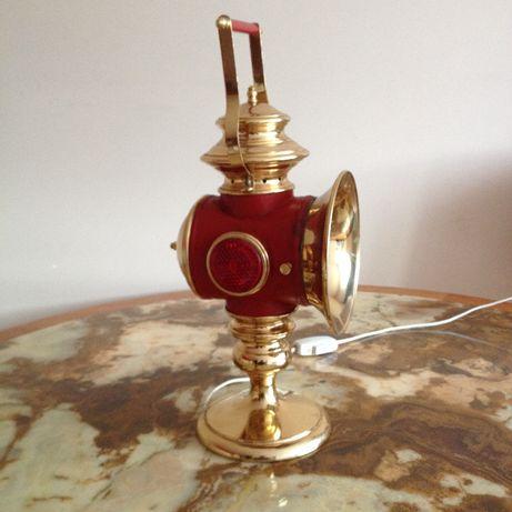 Lampka nocna na biurko imitacja lampa karbitowa powozowa