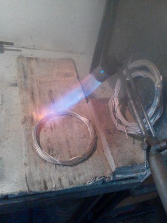 заготовка проволоки из серебра на моем оборудовании.