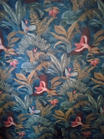 Tapeta wzorzysta- ptaki, rośliny