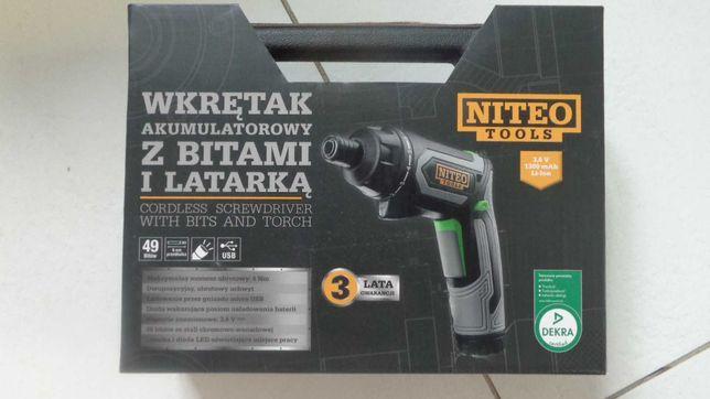 Wkrętak rewolwerowy akumulatorowy Niteo Tools NOWY KARTON