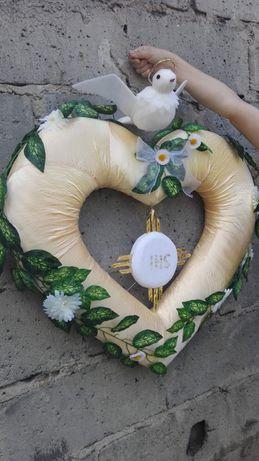 Serce- dekoracja komunijna