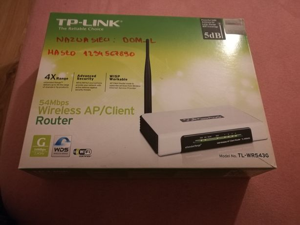 Router tp-link tl -wr 543 g