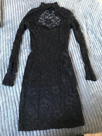 Sukienka ASOS, rozmiar 38, czarna, koronkowa