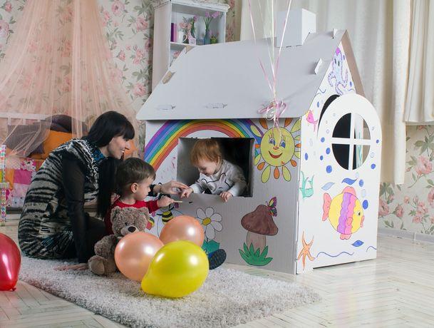 Картонный домик раскраска палатка