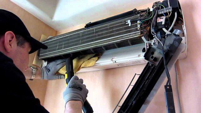 Установка кондиционеров, чистка, заправка фреоном, ремонт