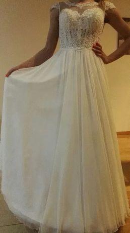 Suknia ślubna rozmiar 36 kolor złamana biel