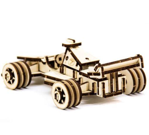 Механический деревянный 3D пазл SUNROZ Спортивный болид 68 эл.