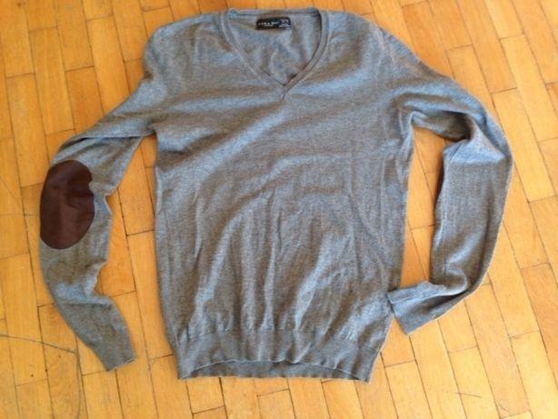 Sweter męski Zara M szary w serek