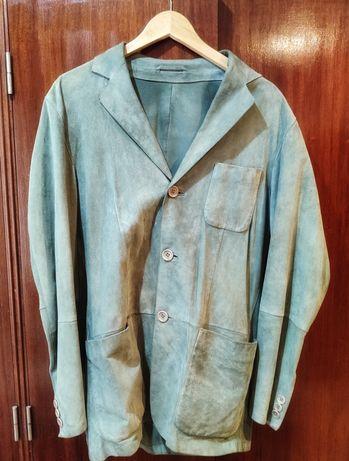 Casaco Blazer Pele Vintage Retro Moda Hugo Boss