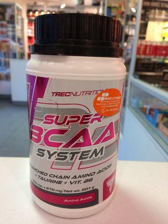 TREC Super BCAA System - 300caps aminokwasy, regeneracja Muscle Power