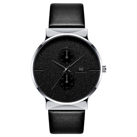 Zegarek czarny srebrny na pasku