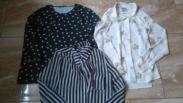 Zestaw 3 koszule H&M new look roz 36