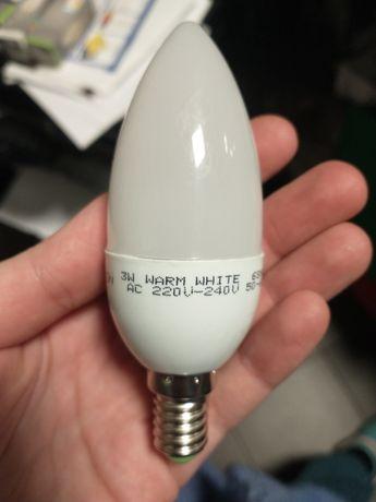 Zdrówka E14 3w świeczka 8 sztuk zikon ciepły biały 3000k