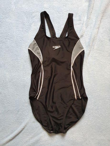 Спортивный сдельный слитный цельный купальник  speedo