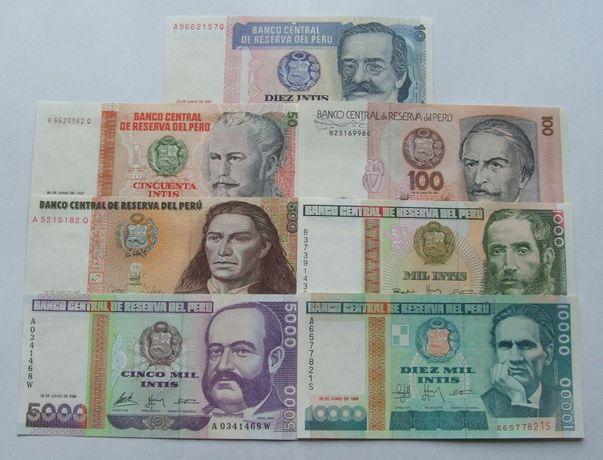 Banknoty PERU - Z PACZKI BANKOWEJ - Zestaw Kolekcjonerski