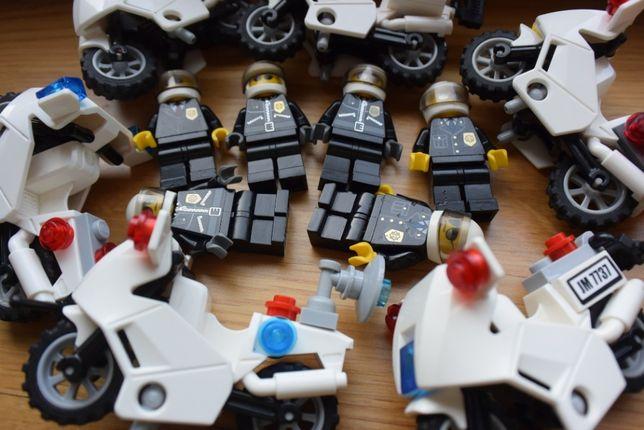 LEGO City Policja Policjant Motor Ścigacz Dodatki Wyposażenie Łódź