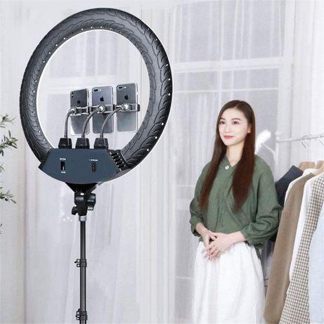 Кольцевая led лампа slp-g500 220v (45см) со штативом