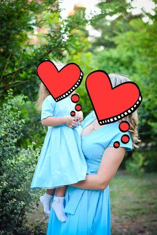 Платья для мамы и дочки.Family look. Одинаковые платья