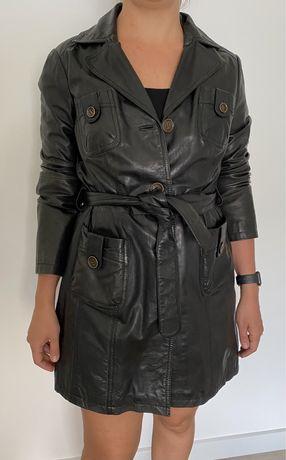 Кожаный плащ (пиджак) немецкой фирмы Heine. Практически новый плащик ,