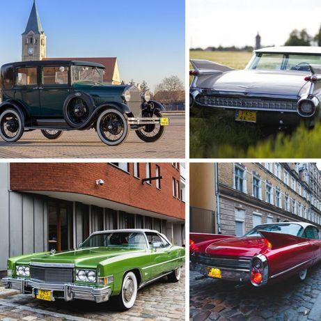 Auto na wesele Auto do ślubu Cadillac samochód do ślubu klasyk do ślub