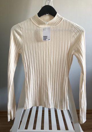 h&m golf z metką nowy sweter knitaear rozmiar s 36
