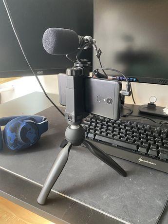 Mikrofon statyw do telefonu/aparatu