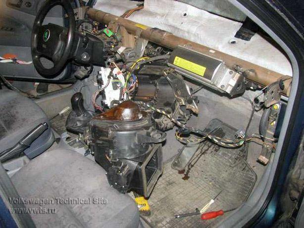 Замена радиатора печки на авто.