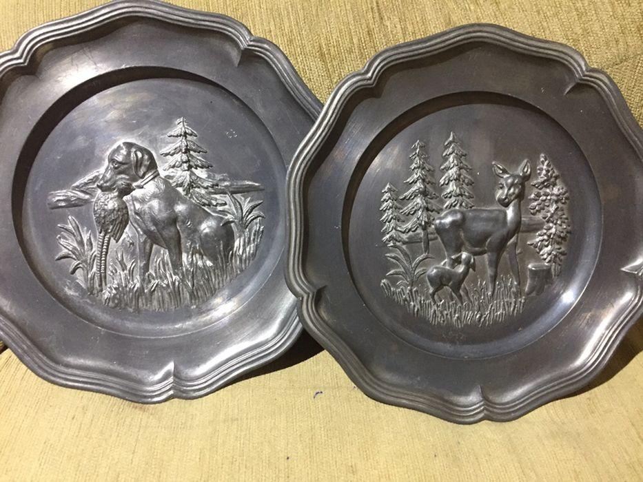 Настенная оловяная тарелка Германия 60х Киев - изображение 1