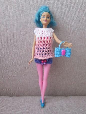 Lalka Barbie Blue Fairy*Neonowe Ubranka*Akcesoria*17szt+Barbie*