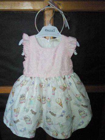 Шикарное платье для девочки на рост 80