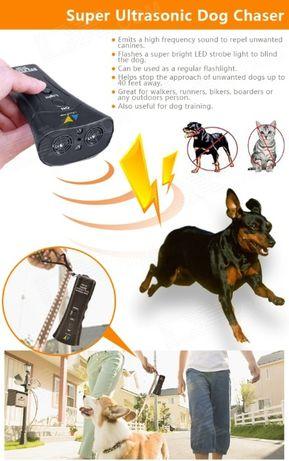 Ультразвуковой отпугиватель собак ZF-853 + лазер + 3 режима работы