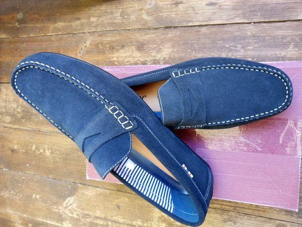 Новые туфли кожа, замш 45р.