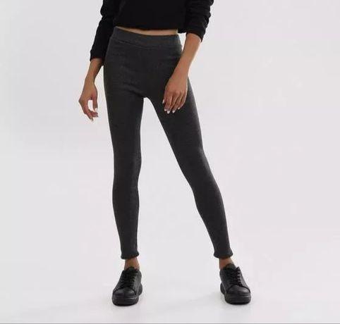 Legginsy spodnie sportowe szare M / L