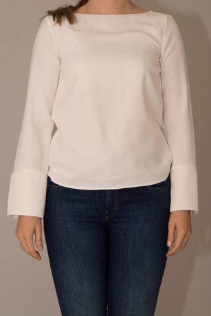 elegancka bluzka kremowa