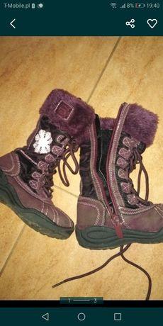 Buty zimowe na dziewczynke