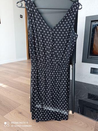 Sukienka kopertowa Sinsay XS 34 czarna