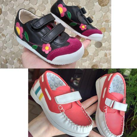 Нові шкіряні черевички,кросовки,туфлі,кеди,черевики,лофери,21,22,23,25