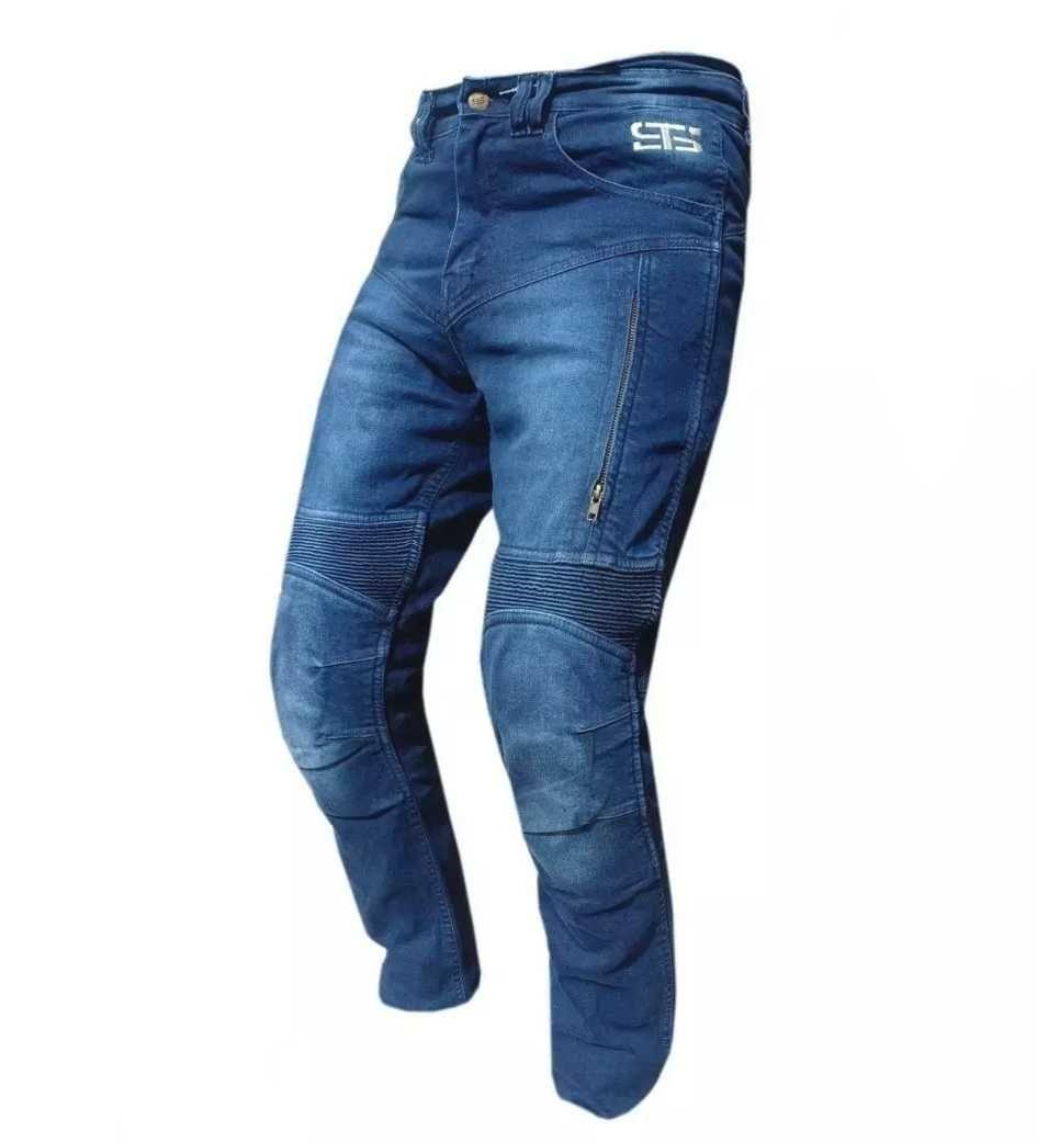 Calça jeans de mota com proteções nova
