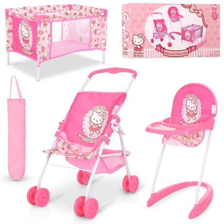 Коляска для кукол HAUCK D-98282 Набор стульчик манеж кроватка Германия