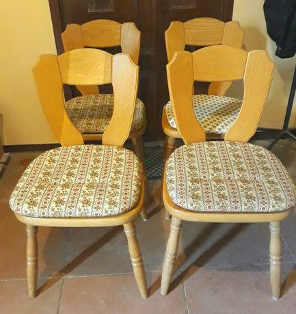 4 krzesła drewniane z poduszkami Eka Wohnmobel