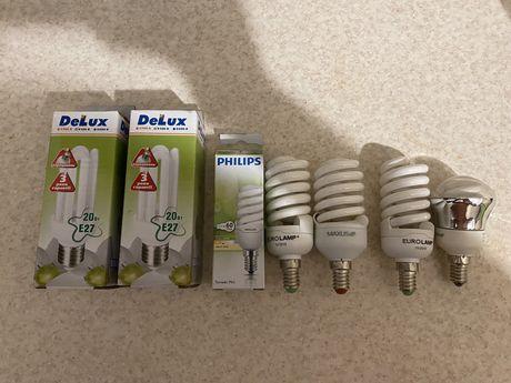 7 шт энергосберегающие лампы maxus delux philips