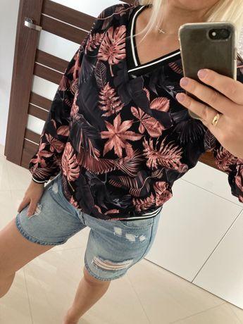 Bluzki damskie, kilka wzorów, jesienny print, nowe! One size