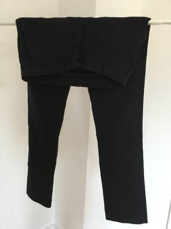 Czarne eleganckie spodnie asos XS