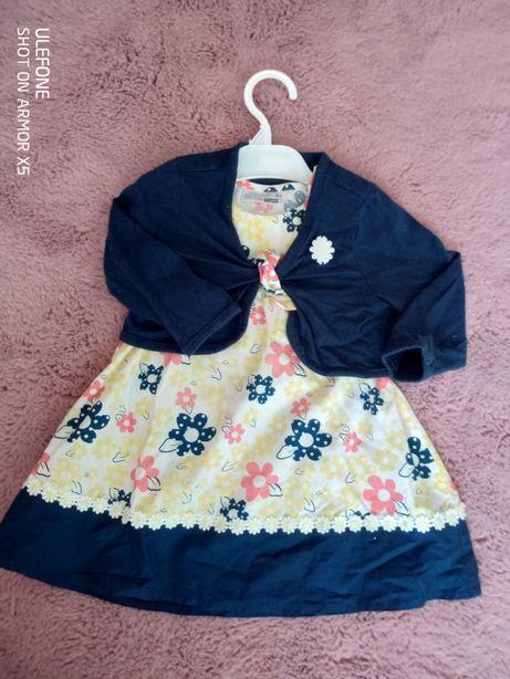 Sukienka sukieneczka bolerko 86