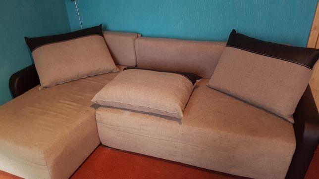 Rogowka naroznik fotel tapczan kanapa szara siwy brw