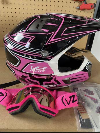 Fox V2 Girl - Capacete Off-Road / Motocross / Enduro + OFERTA