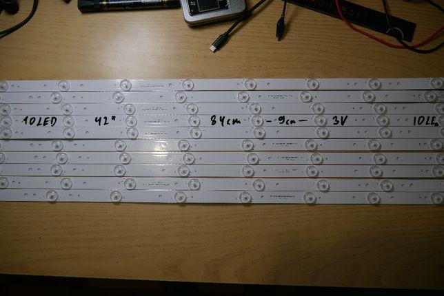 """Универсальная LED подсветка, линейки для ТВ 42"""" №1 2 3"""