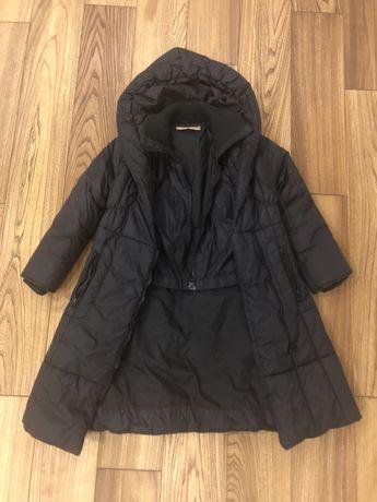 Пальто пуховик Mona Lisa Blumarine чёрный элегантный