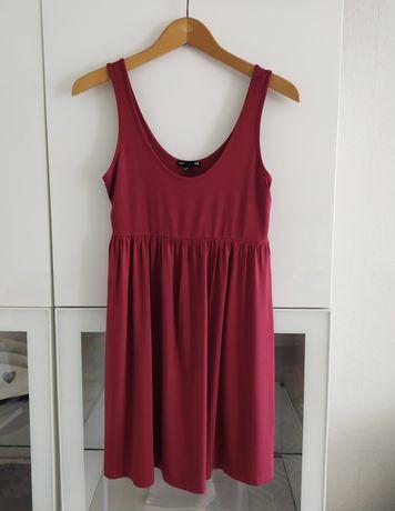 Sukienka tunika ciążowa S H&M burgundowa 36 ubrania odzież