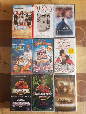 Cassetes VHS - Vários Filmes (Originais) - CONJUNTO